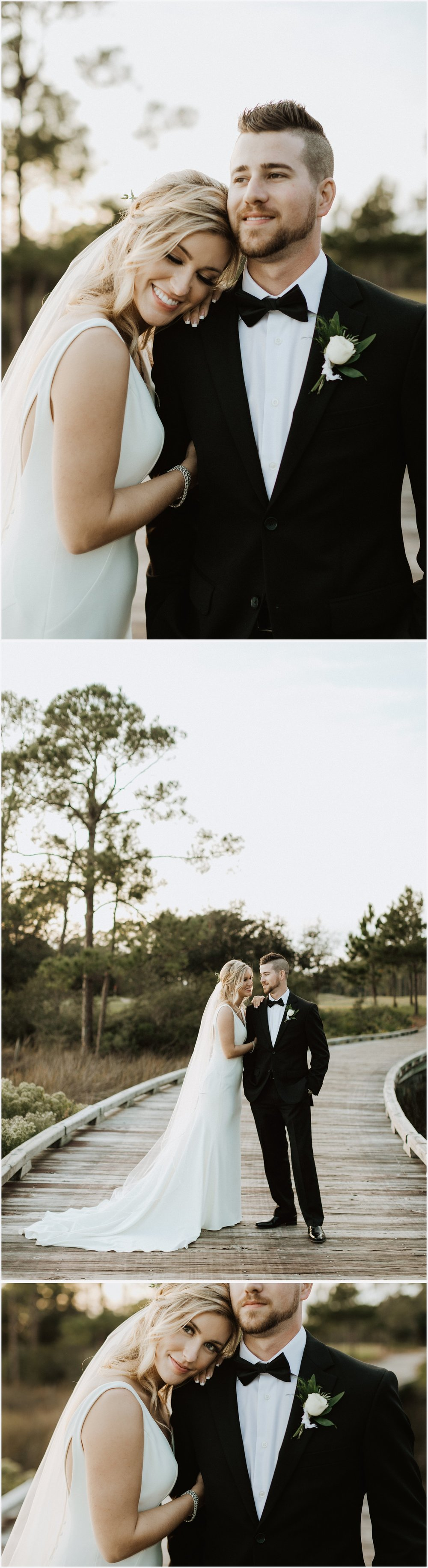 Bride and groom's wedding portraits at their Shark's Tooth Golf Club Wedding