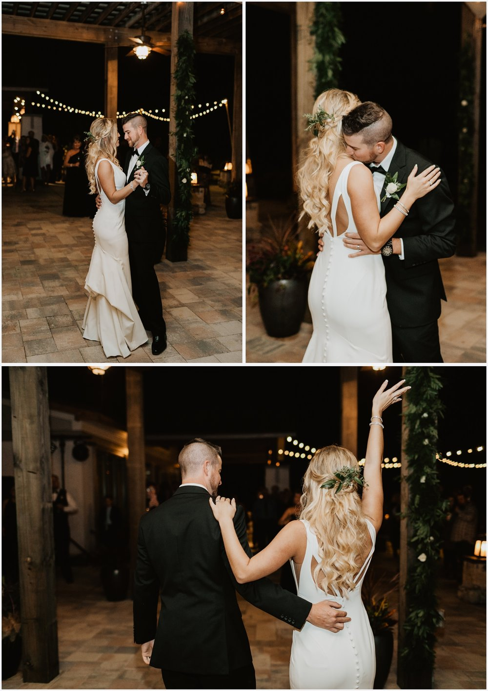 Bride and Groom's first dance at the Shark's Tooth Golf Club