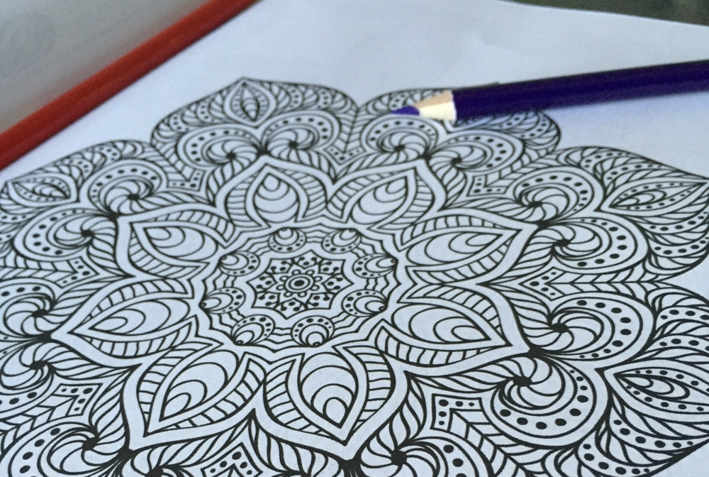 Forget what you remember about those cartoon coloring books from your elementary school days. The adult version of this favorite pastime features detailed, often repeating patterns that are as beautiful as they are intricate.
