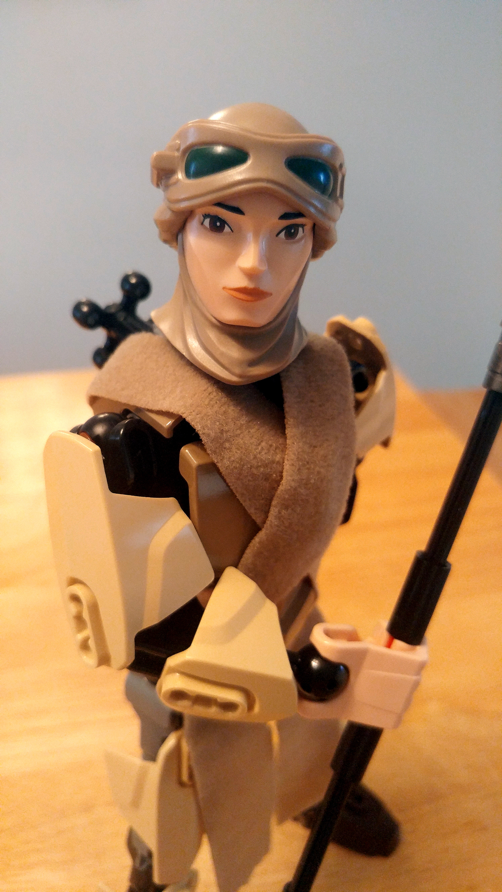 Star Wars LEGO Rey Buildable Figures Complete Constructed Close Up 5