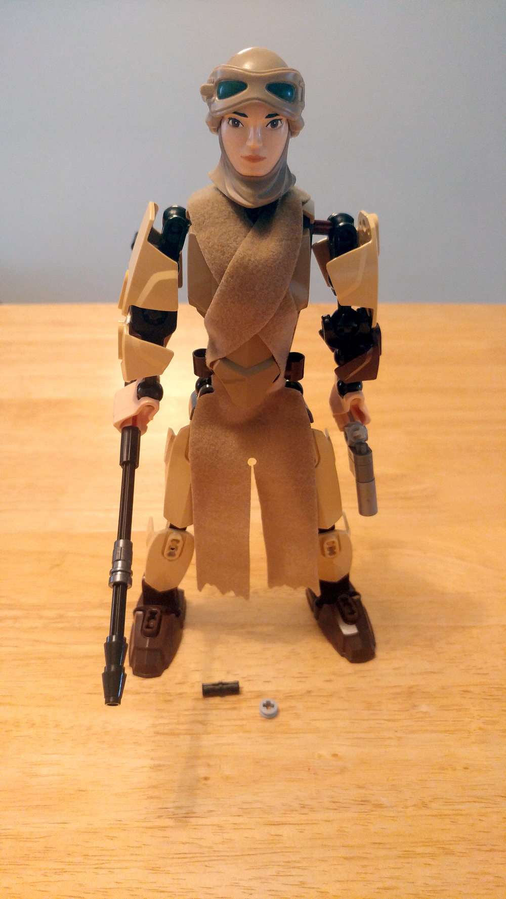 Star Wars LEGO Rey Buildable Figures Complete Constructed Close Up 3