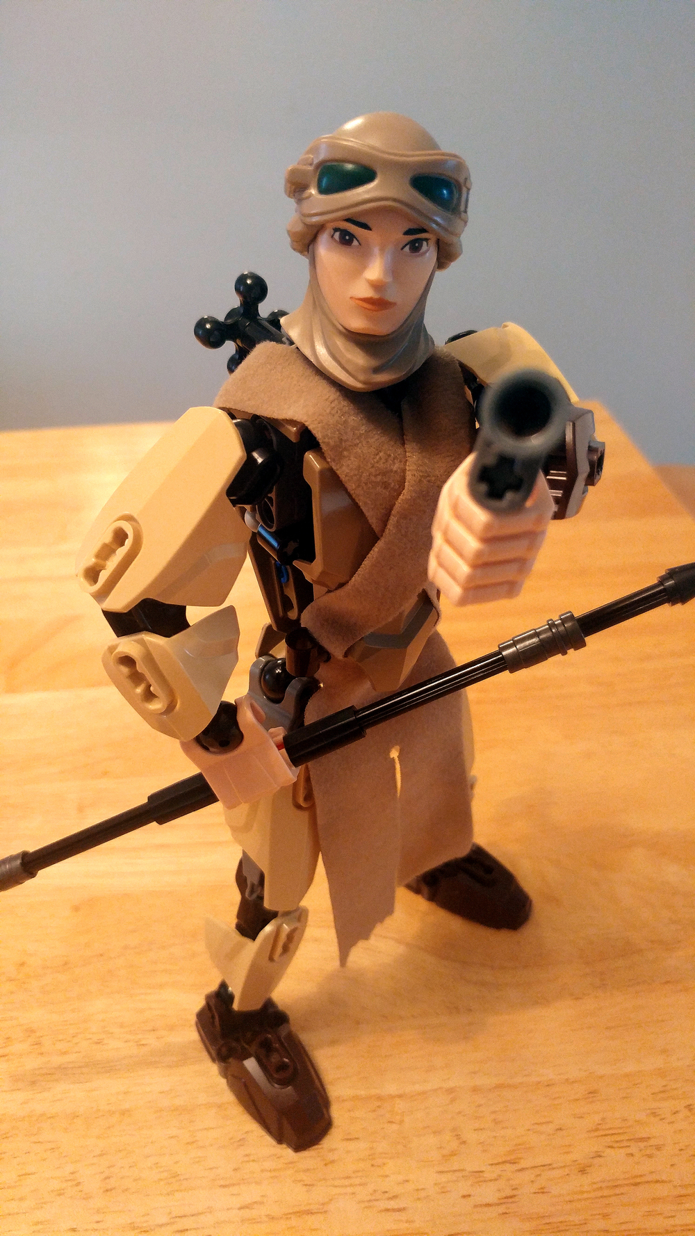 Star Wars LEGO Rey Buildable Figures Complete Constructed Close Up 6