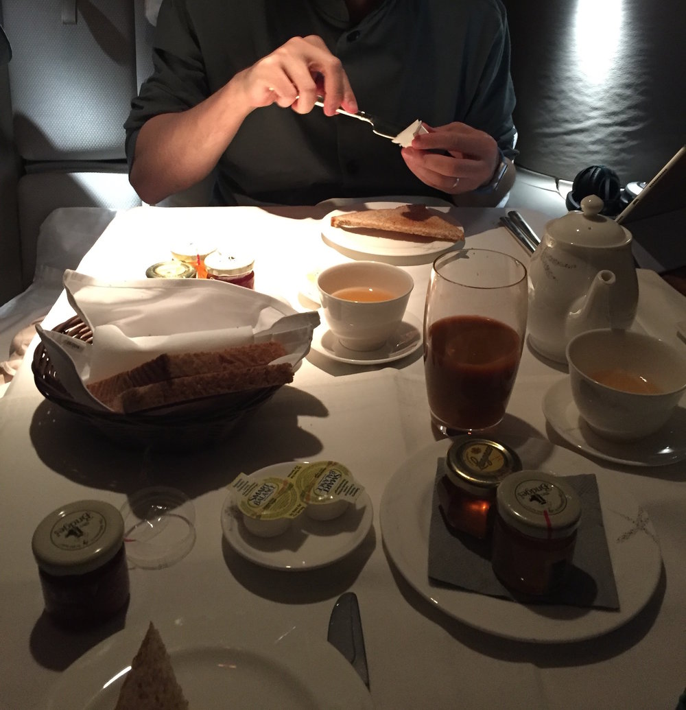 Cathay Pacific First Class Breakfast for two