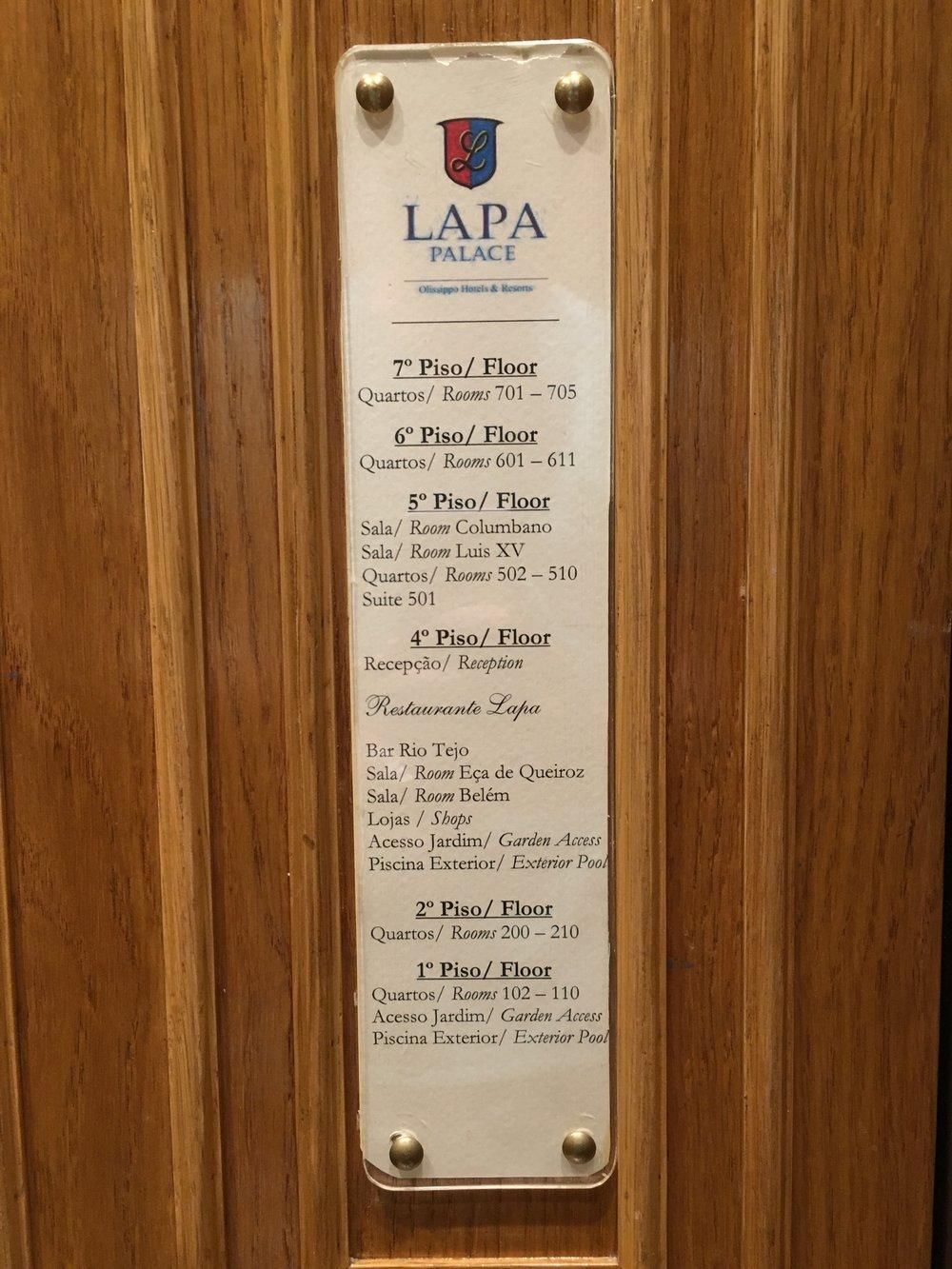 Olissippo Lapa Palace Directory