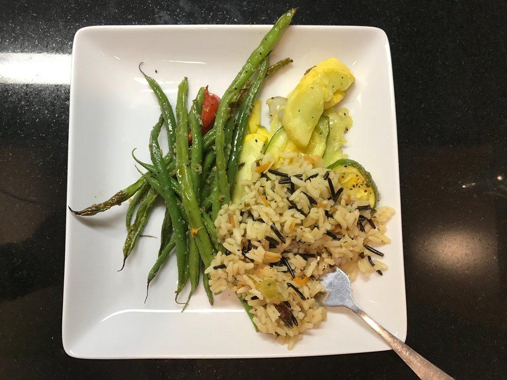 O'Hare Flagship Lounge vegetarian dish