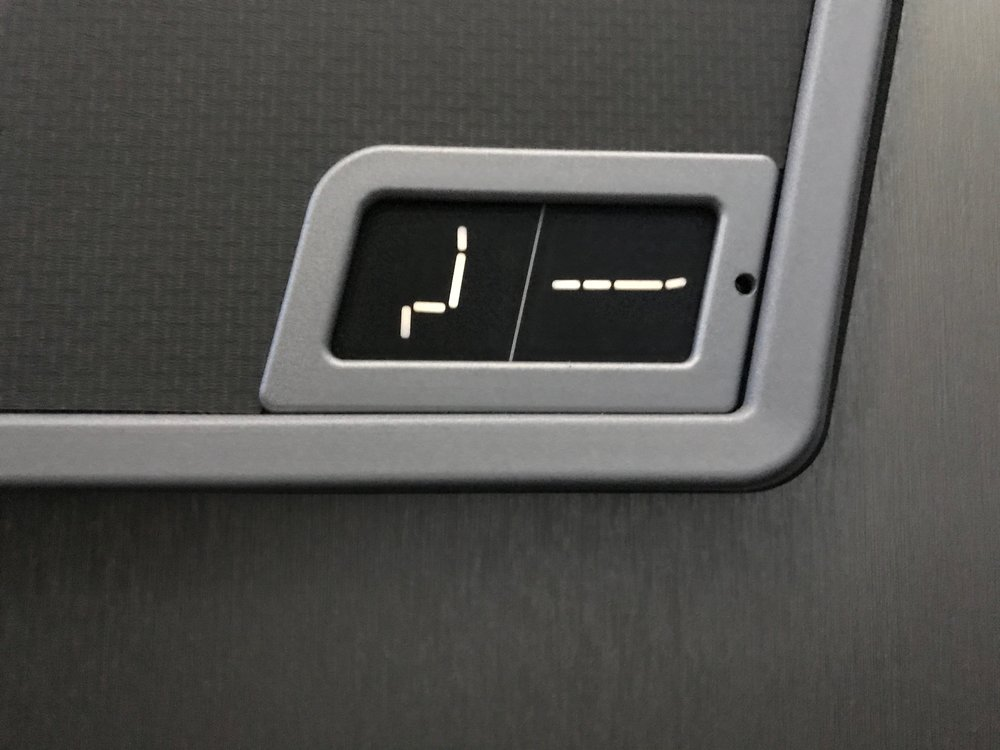 AA 787 Dreamliner Business Class seat position hardware buttons