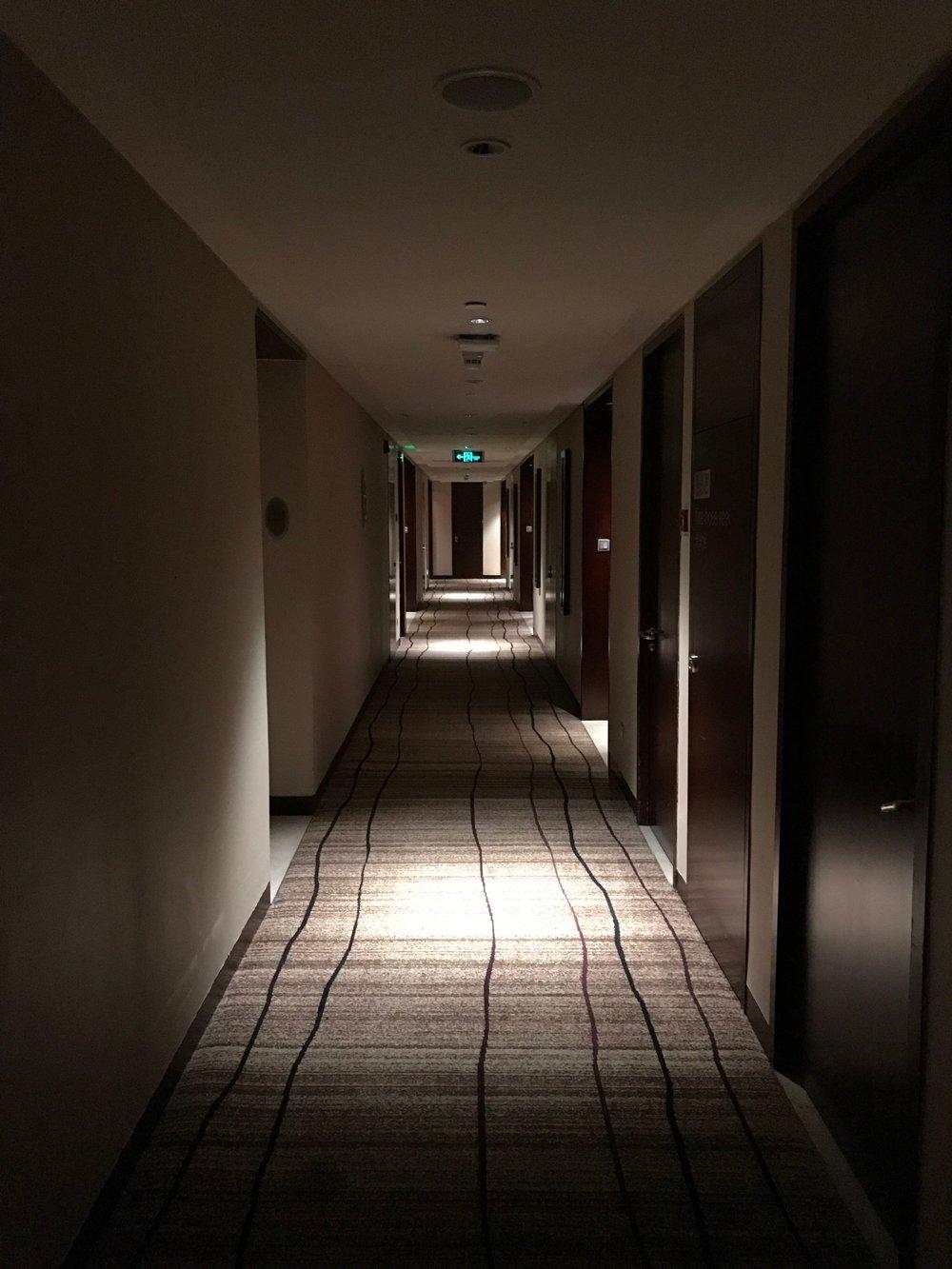 Westin Beijing Financial Street hallway