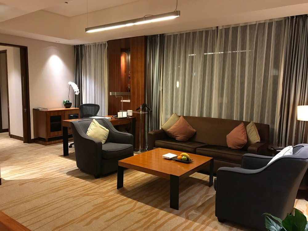 Westin Beijing Financial Street Executive Renewal Suite living room