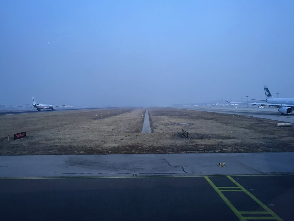 Beijing Airport (PEK) tarmac traffic during taxiing