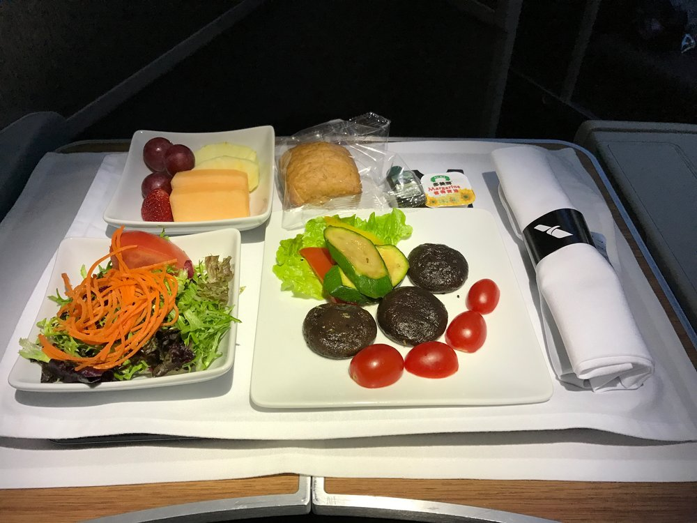 Vegetarian (VGML)special meal lunch appetizer - AA186 PEK to ORD