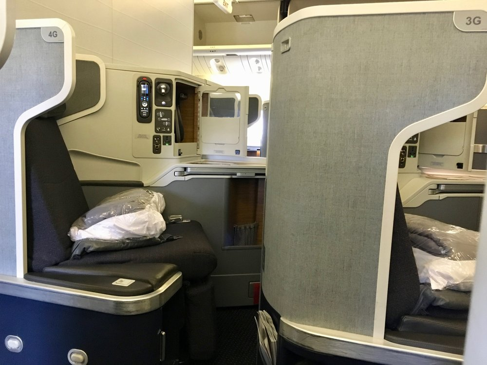 777-300ER business class mini-cabin center seats