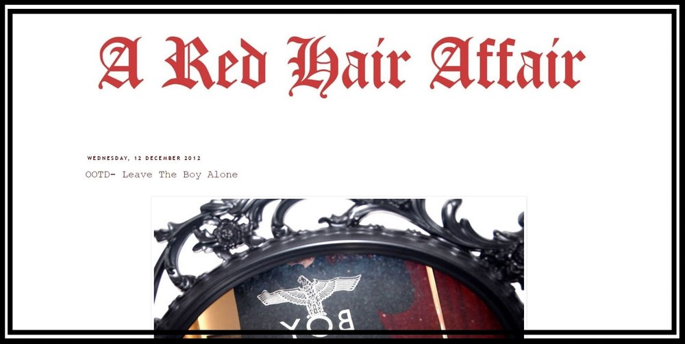 A Red Hair Affair - a trip down memory lane