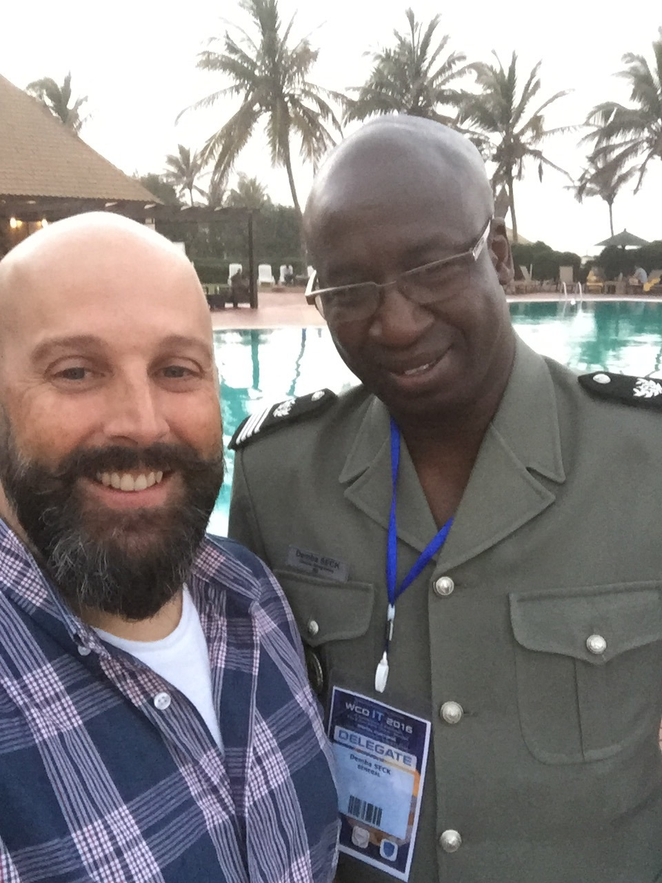 Chris and Mr. Demba Seck of the Sengalese Customs Service