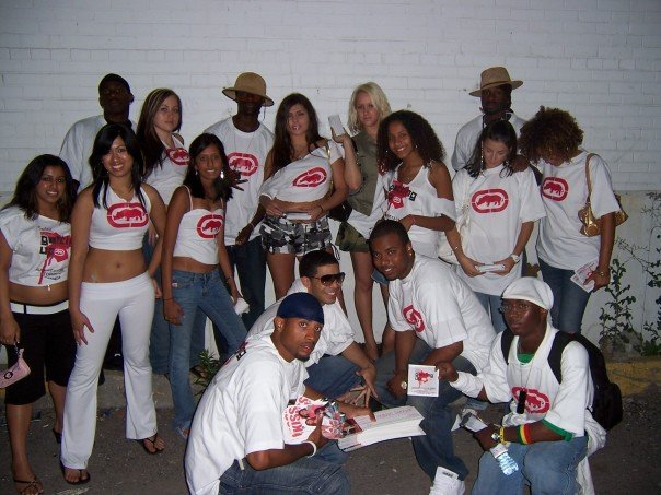 ECKO FEST     [From left to right; Seema Jain, Jenna Telesford, Unknown, Alexandra Desouza, Michael Adrian, Elise Assaf, Unknown, unknown, Rebecca Brianceau, Andre Joseph    Lower: unknown, Aubrey Graham, Jason J, Yusef Williams]