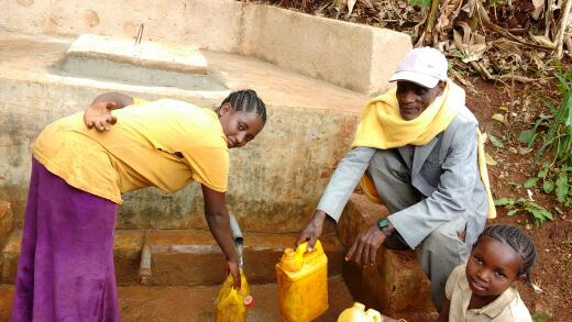 After: A clean spring water source in the village