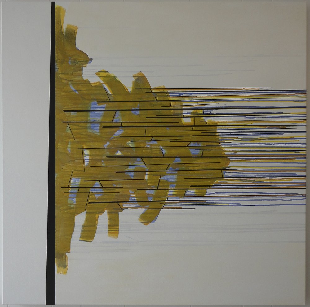 "Untitled (Clarity). 04/19/13, 36Hx36""Wx1.5""D, acrylic on canvas."