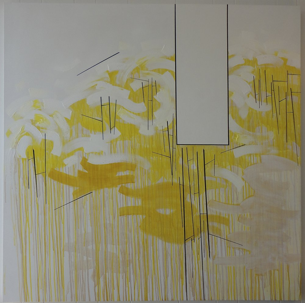 "Untitled (Fade).04/03/13, 54""Hx54""Wx1.5""D, acrylic on canvas."
