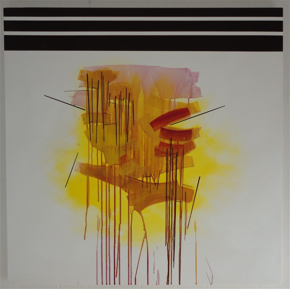 "SOLD. Untitled. 2013, $800.00, 36""Hx36""Wx1.5""D, acrylic on canvas."