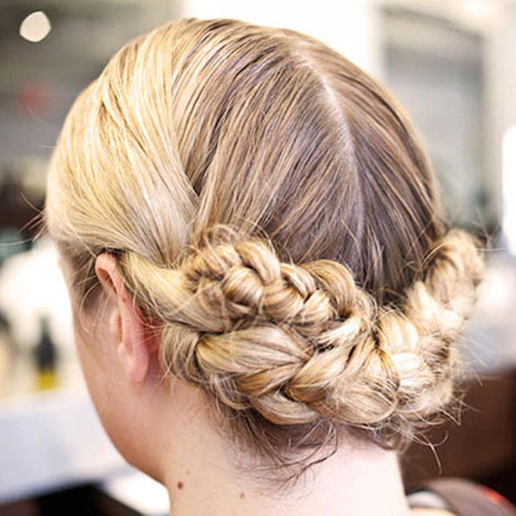 Wet Hair Low Milkmaid Braid