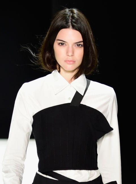 Kendall Jenner Tucked In Hair