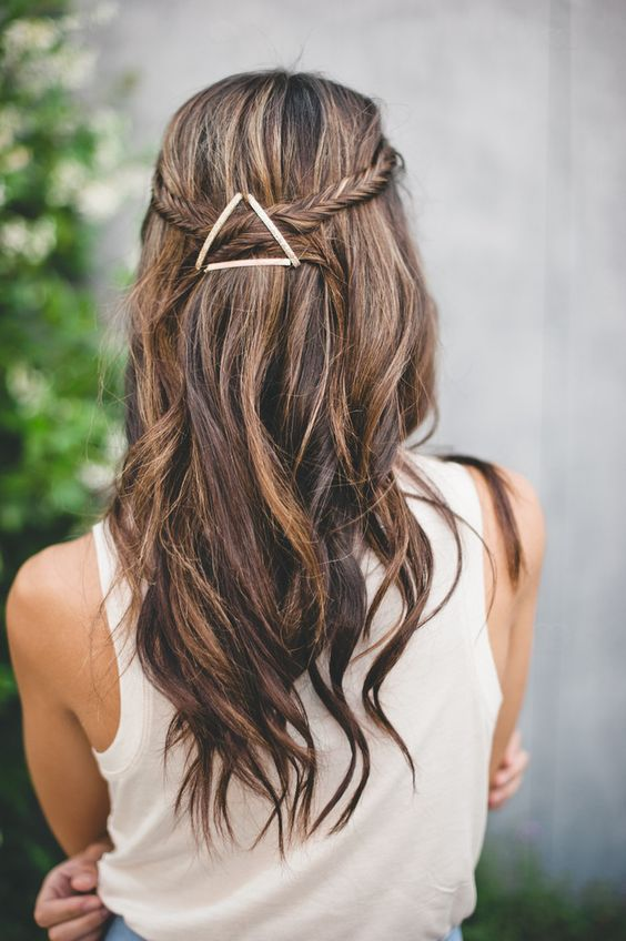 Creative Bobby Pins Hairstyle