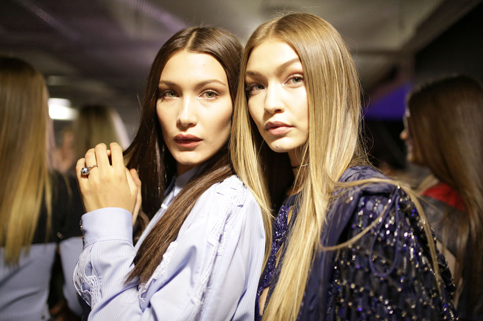 Gigi & Bella Hadid hair