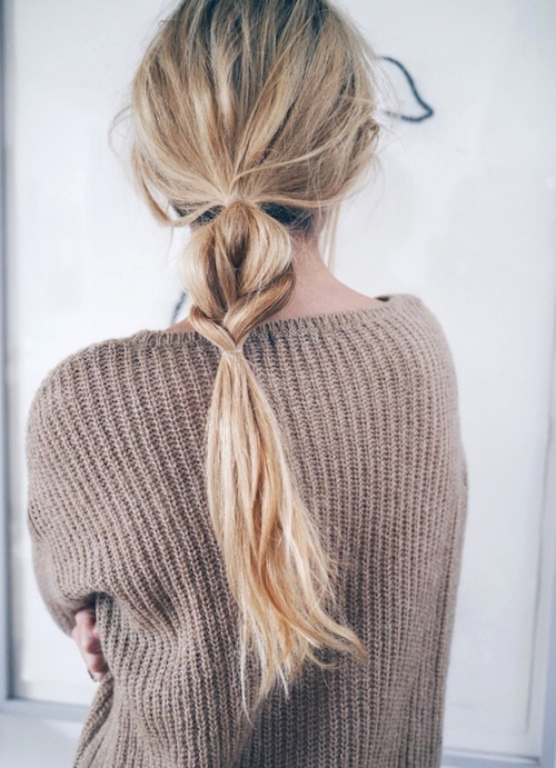 Half braid/half pony
