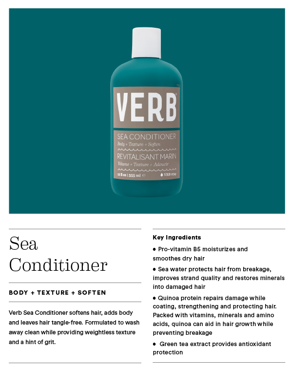 Style Sea Shampoo & Conditioner - Use this wash & rinse to create soft touchable texture.