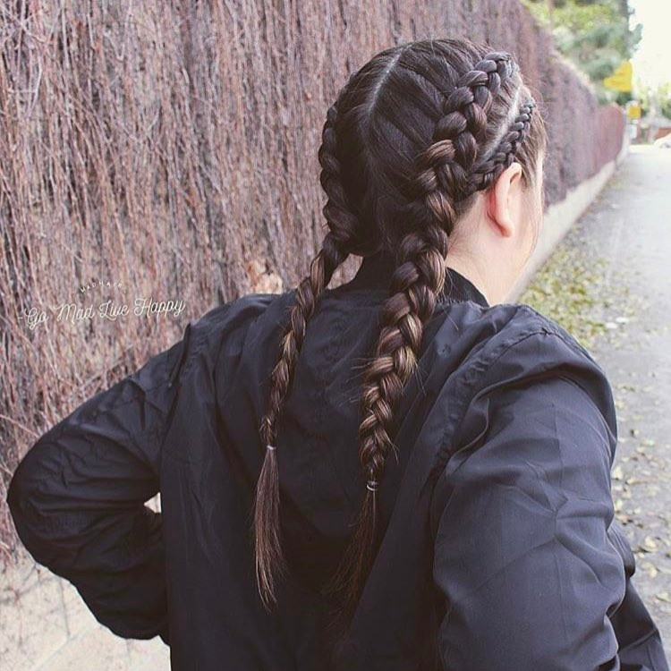 tight double braids