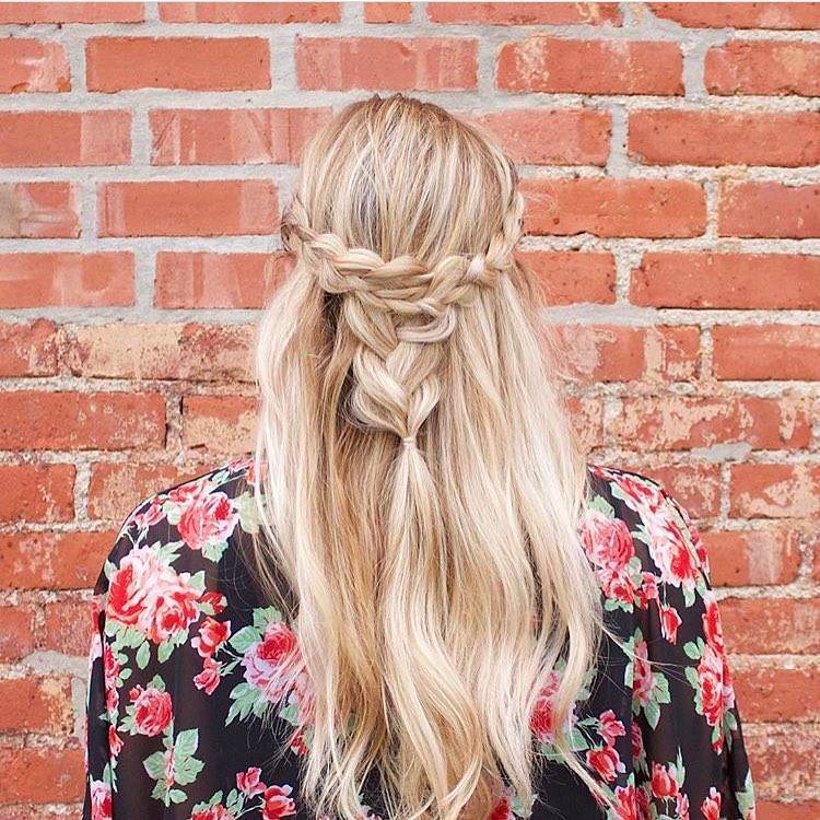 Half Back Braided Style