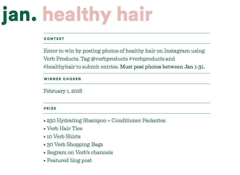 january healthy hair contest