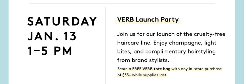 verb products birchbox event