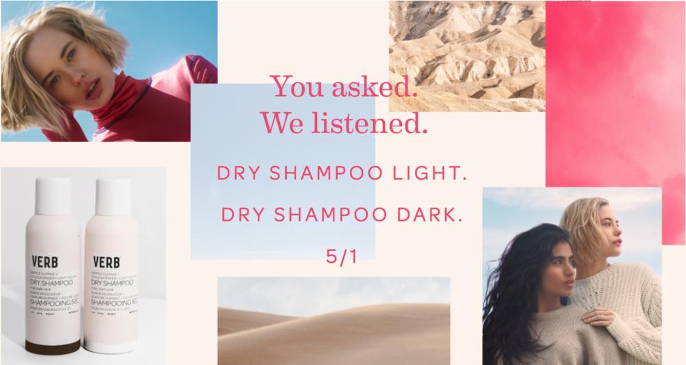 verb dry shampoo aerosols