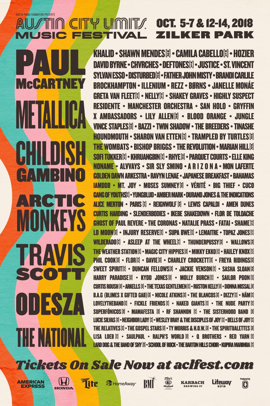 austin city limits full lineup 2018