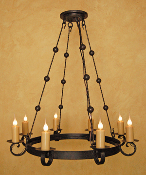 Custom work laura lee designs custom hand forged iron chandelier by laura lee designs mozeypictures Image collections