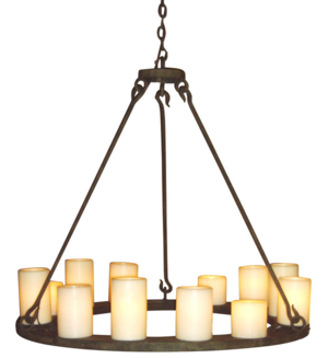 mallorca wrought iron chandelier - Candle Chandelier