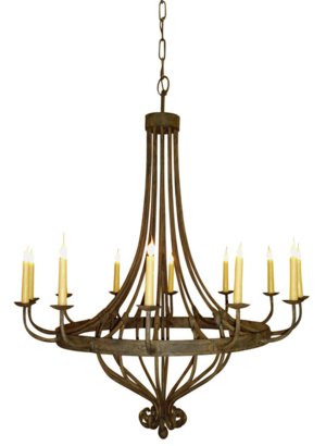 Traditional Wrought Iron Chandelier