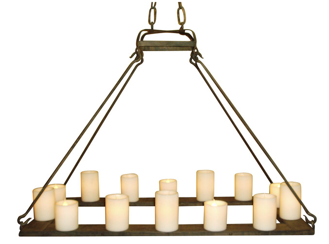 c47e mallorca hollowed candle chandelier