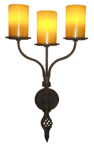 Sconces laura lee designs wrought iron wall sconce aloadofball Images