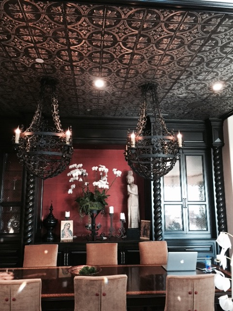 Custom Spanish style Margarita Chandelier for a private Los Angeles residence.