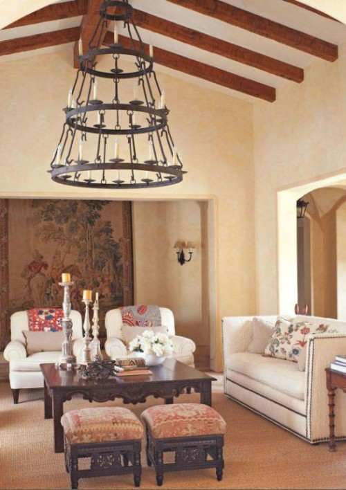 Our Triple Tier Buckingham; a traditional, classic wrought iron chandelier.