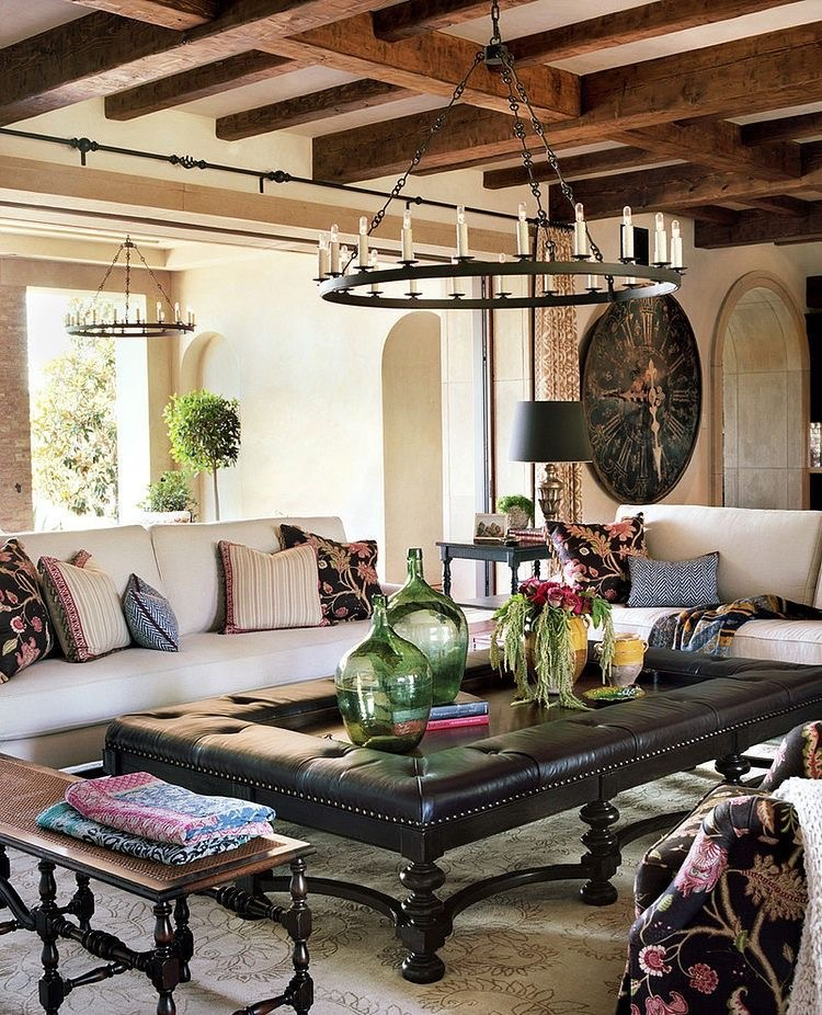 A custom Toscana Chandelier in a transitional home.