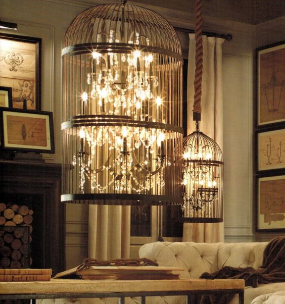 Rustic iron and crystal chandelier custom designed for a high-end retailer.