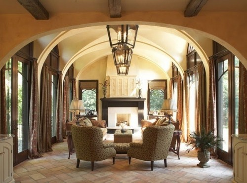 Laura Lee Designs C36 Lanterns in a Tuscan style home
