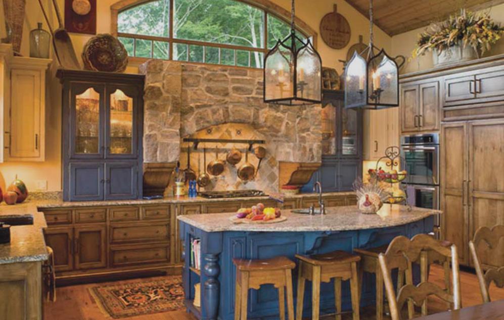 Urbino Lanterns in a rustic farmhouse kitchen.