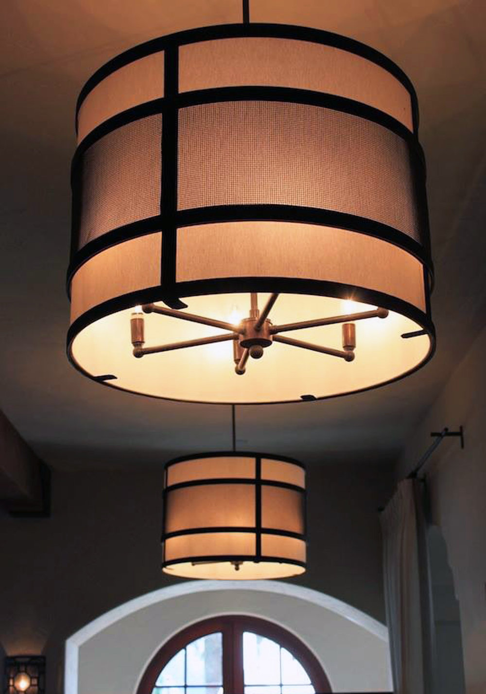 Custom Drum Chandelier in a Malibu country club.