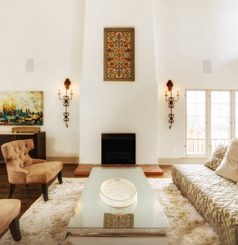 Jasmine Sconces in a Spanish Revival style home.