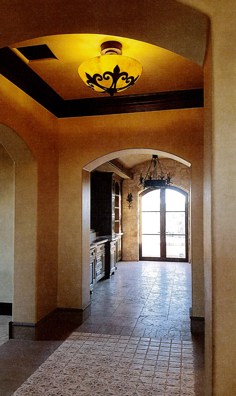 Las Vegas Hallway with Venetian Flush Mount Light.jpg