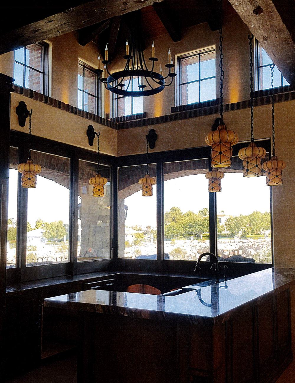 Las Vegas Kitchen with Italian Lanterns and Chandelier.jpg