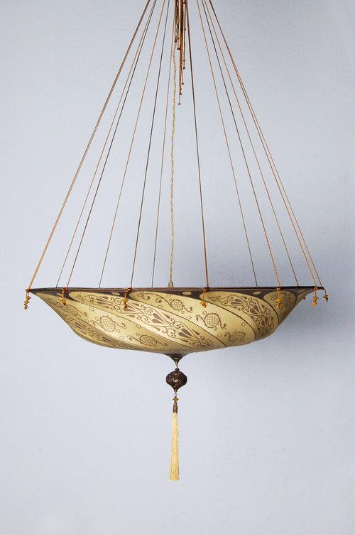 Fortuny chandelier silk classic pattern laura lee designs fortuny chandelier silk classic pattern aloadofball Choice Image